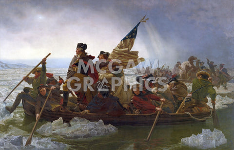 Washington Crossing the Delaware (cropped) -  Emanuel Gottlieb Leutze - McGaw Graphics