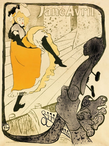 Jane Avril, 1893 -  Henri de Toulouse Lautrec - McGaw Graphics