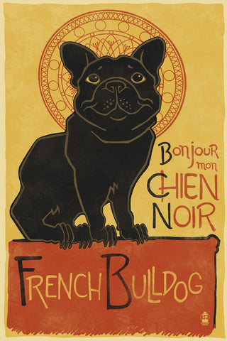 French Bulldog -  Lantern Press - McGaw Graphics