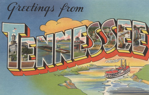 Greetings from Tennessee -  Lantern Press - McGaw Graphics