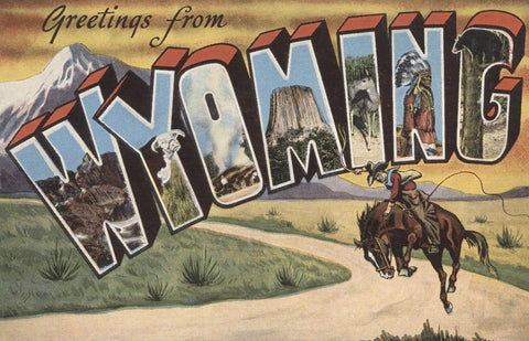 Greetings from Wyoming -  Lantern Press - McGaw Graphics