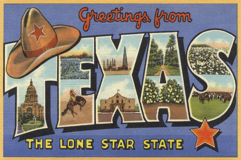 Greetings from Texas -  Lantern Press - McGaw Graphics