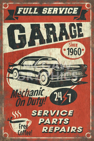 Full Service Garage -  Lantern Press - McGaw Graphics