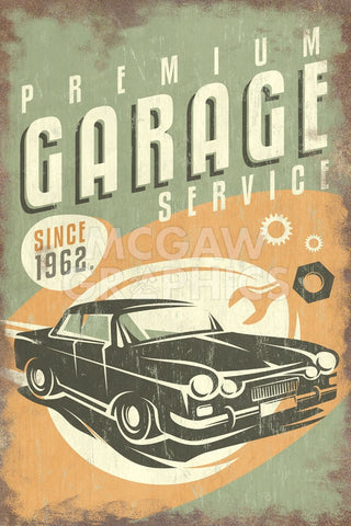 Premium Garage Service -  Lantern Press - McGaw Graphics