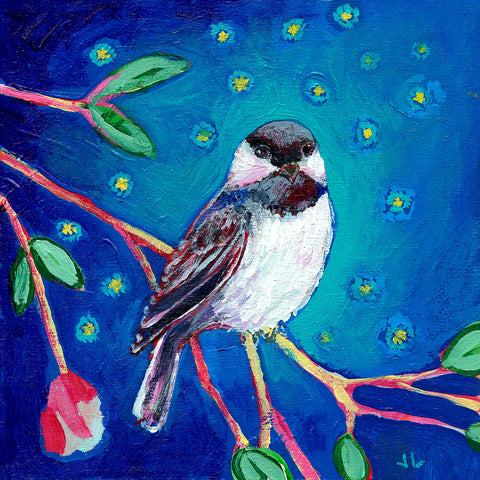 Jennifer Lommers - Chickadee at Night