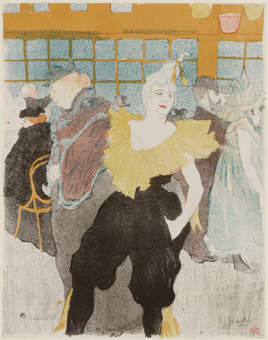 Henri de Toulouse Lautrec - The Clowness at the Moulin Rouge, 1897