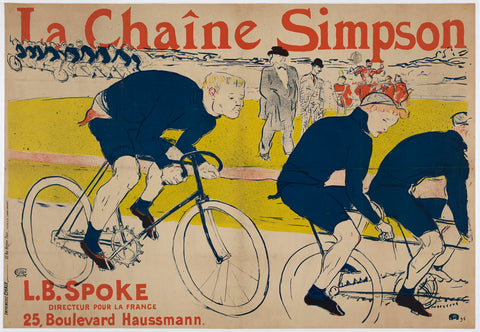 "Poster for ""La Chaine Simpson"" Bicycle Chains, 1896 -  Henri de Toulouse Lautrec - McGaw Graphics"