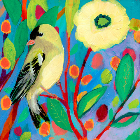 Goldfinch and Zinnia -  Jennifer Lommers - McGaw Graphics