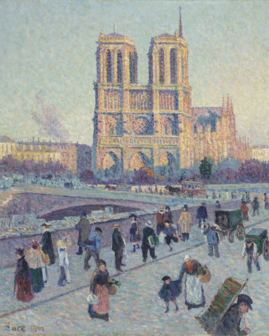 The Quai Saint-Michel and Notre-Dame, 1901 -  Maximilien Luce - McGaw Graphics