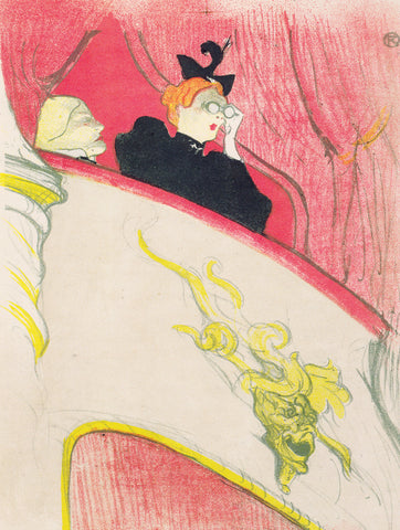 The Box with the Gilded Mask, 1893 -  Henri de Toulouse Lautrec - McGaw Graphics