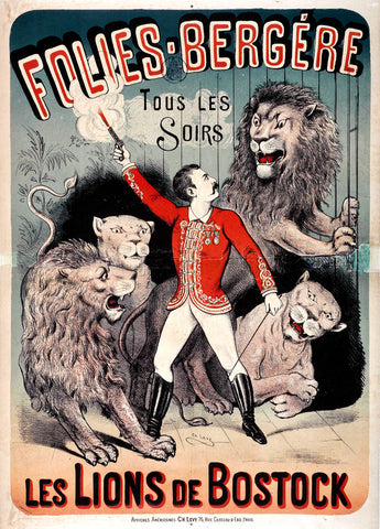 Folies-Bergere Les Lions de Bostock -  Charles Levy - McGaw Graphics