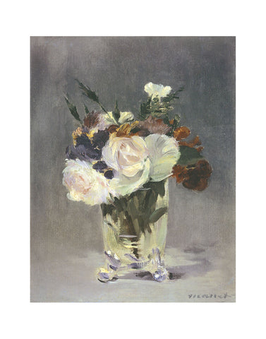 Flowers in a Crystal Vase -  Edouard Manet - McGaw Graphics
