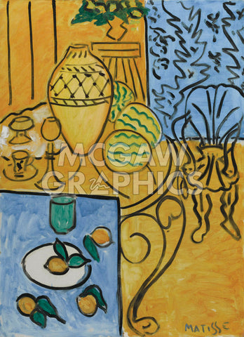 Interior in Yellow and Blue, 1946 -  Henri Matisse - McGaw Graphics