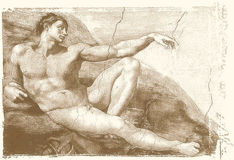 Michelangelo - Creation of Adam (Adam detail)