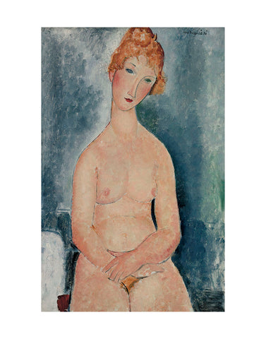 Seated Nude, ca. 1918 -  Amedeo Modigliani - McGaw Graphics