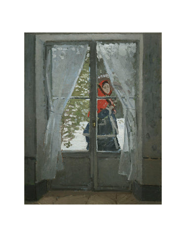 The Red Kerchief: Portrait of Mrs. Monet, 1868-1878 -  Claude Monet - McGaw Graphics