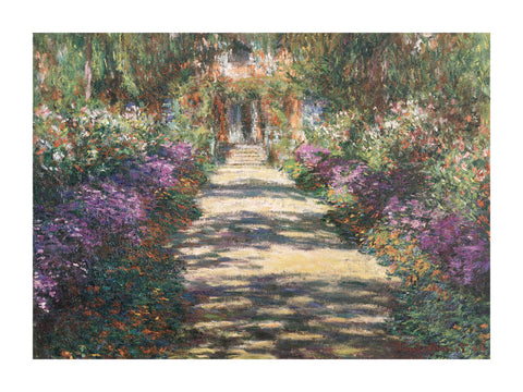 Garden at Giverny -  Claude Monet - McGaw Graphics