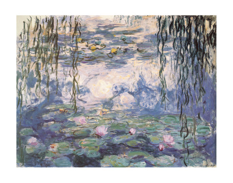 Water Lilies and Willow Branches -  Claude Monet - McGaw Graphics