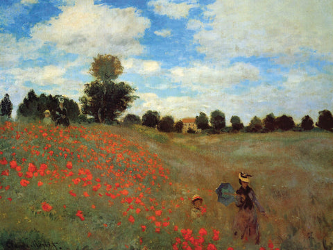 Wild Poppies -  Claude Monet - McGaw Graphics