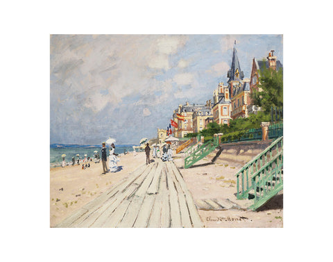 Beach at Trouville, 1870 -  Claude Monet - McGaw Graphics