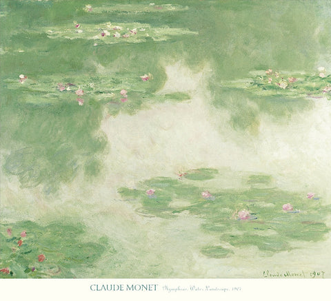 Claude Monet - Nympheas, Water Landscape, 1907