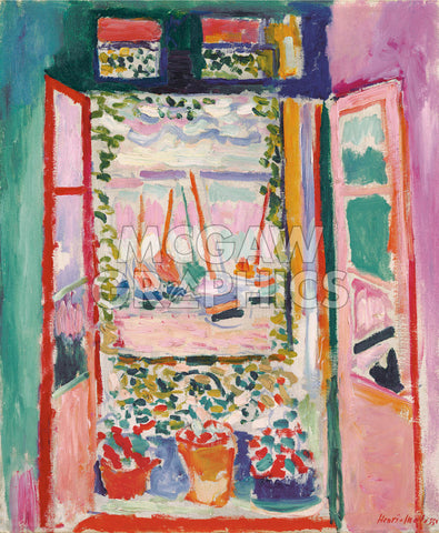 The Open Window, Collioure, 1905 -  Henri Matisse - McGaw Graphics