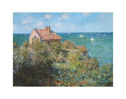 Fisherman's Cottage on the Cliffs at Varengeville, 1882 -  Claude Monet - McGaw Graphics