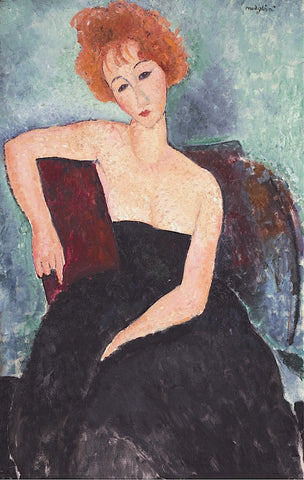 Red-Headed Woman -  Amedeo Modigliani - McGaw Graphics