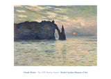 The Cliff, Etretat, Sunset, 1883 -  Claude Monet - McGaw Graphics