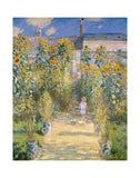 The Artist's Garden at Vetheuil, 1880 -  Claude Monet - McGaw Graphics