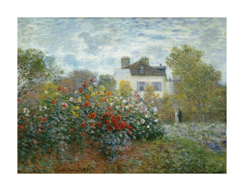 The Artist's Garden in Argenteuil (A Corner of the Garden with Dahlias), 1873 -  Claude Monet - McGaw Graphics