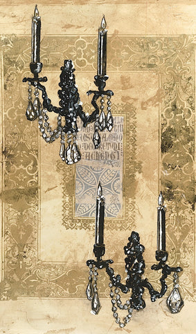 Brocade Sconces -  Pyper Morgan - McGaw Graphics