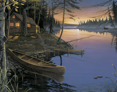 Ervin Molnar - Canoe at the Cabin