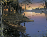 Canoe at the Cabin -  Ervin Molnar - McGaw Graphics
