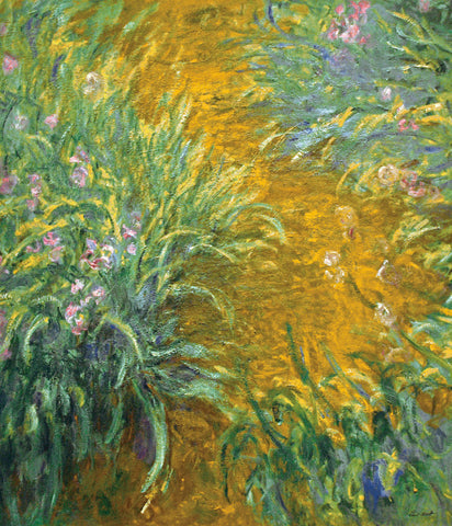 The Path in the Iris Garden -  Claude Monet - McGaw Graphics
