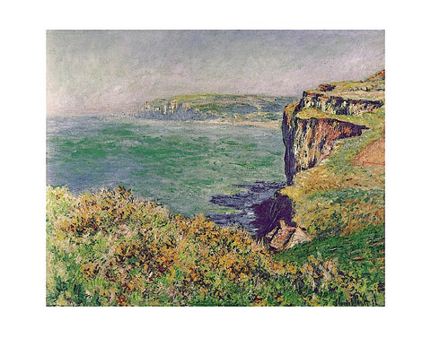 The Cliff at Varengeville, 1882 -  Claude Monet - McGaw Graphics