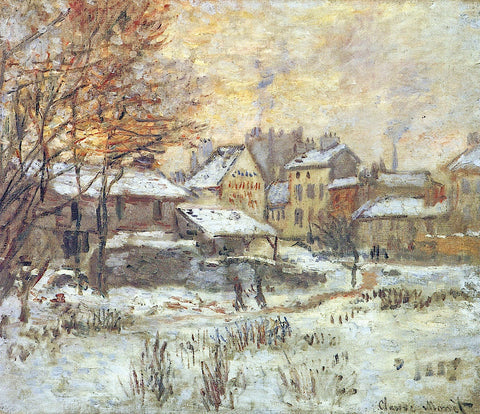 Snow Effect, Sunset -  Claude Monet - McGaw Graphics