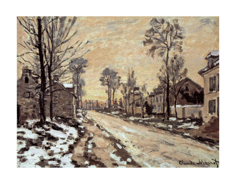Road at Louveciennes, Melting Snow, Sunset -  Claude Monet - McGaw Graphics