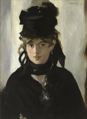 Berthe Morisot with Bouquet of Violets, 1872 -  Edouard Manet - McGaw Graphics
