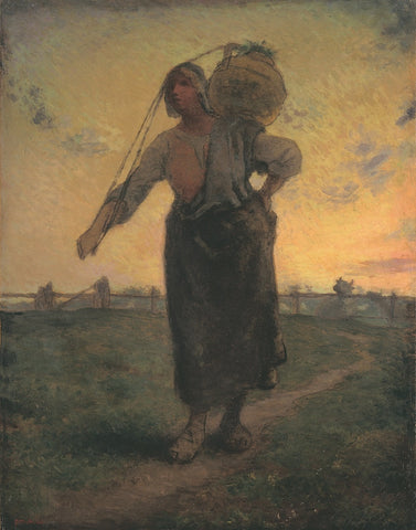 The Norman Milkmaid in Gréville, 1874 -  Jean-François Millet - McGaw Graphics