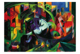 Abstract with Cattle -  Franz Marc - McGaw Graphics