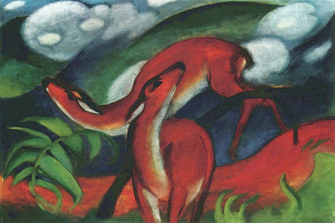 Franz Marc - Red Deer II