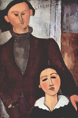 Portrait of Jacques & Berthe Lipchitz -  Amedeo Modigliani - McGaw Graphics