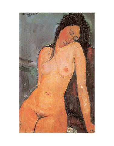 Seated Nude, ca. 1917 -  Amedeo Modigliani - McGaw Graphics