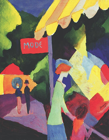 August Macke - Fashion Store Window