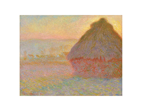 Grainstack (Sunset), 1891 -  Claude Monet - McGaw Graphics