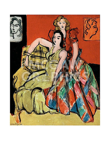Two Young Women, the Yellow Dress and the Scottish Dress, 1941 -  Henri Matisse - McGaw Graphics