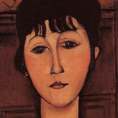 Head of a Young Girl (detail) -  Amedeo Modigliani - McGaw Graphics