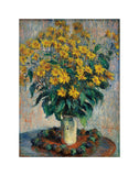Jerusalem Artichoke Flowers, 1880 -  Claude Monet - McGaw Graphics