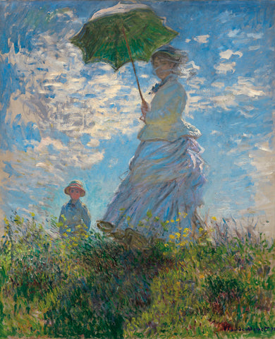 Woman with a Parasol, 1875 -  Claude Monet - McGaw Graphics